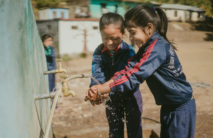 Nepal washing hands