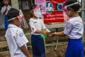 Onderwijs Myanmar corona VSO changemakers handen wassen